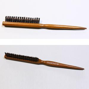 Professional Hair Brush 3-Lines Bristle Pin, Wooden Handle Hair Brush, Hair Salon Brush