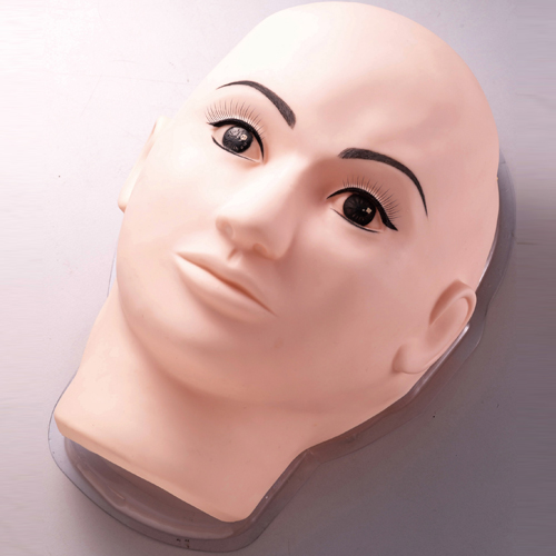 Permanent Makeup Mannequin Mask, Permanent Makeup Practice Materials, 3D rubber practice pad