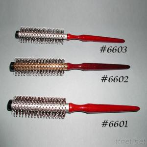 Professional Aluminum Tube Hair Brush, Wooden Handle Hair Brush, Brush Nylon Pin, Hair Salon Brush
